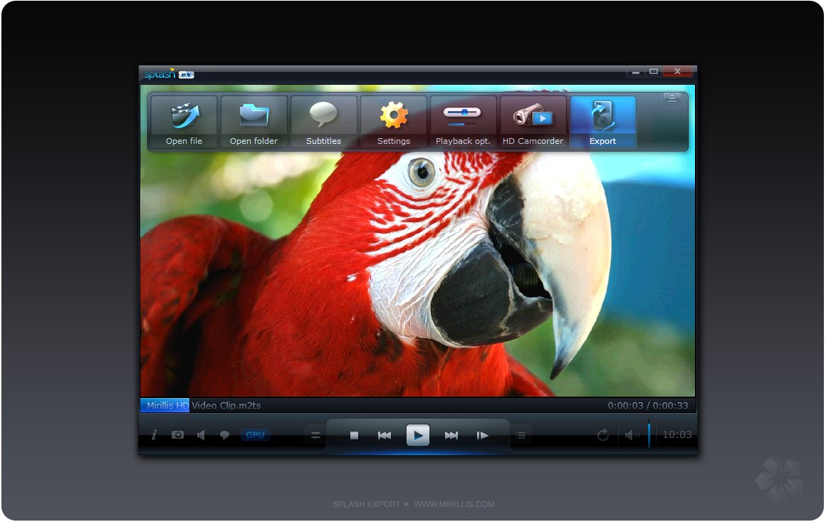 Mirillis Splash Pro EX 1.13.2.0 [Reproductor de Audio y Video HD] [Español/Multi] [Full] – [ExeFull] 1 splash pro ex top menu