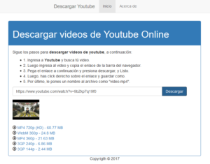 Enlaces de Descarga de youtube