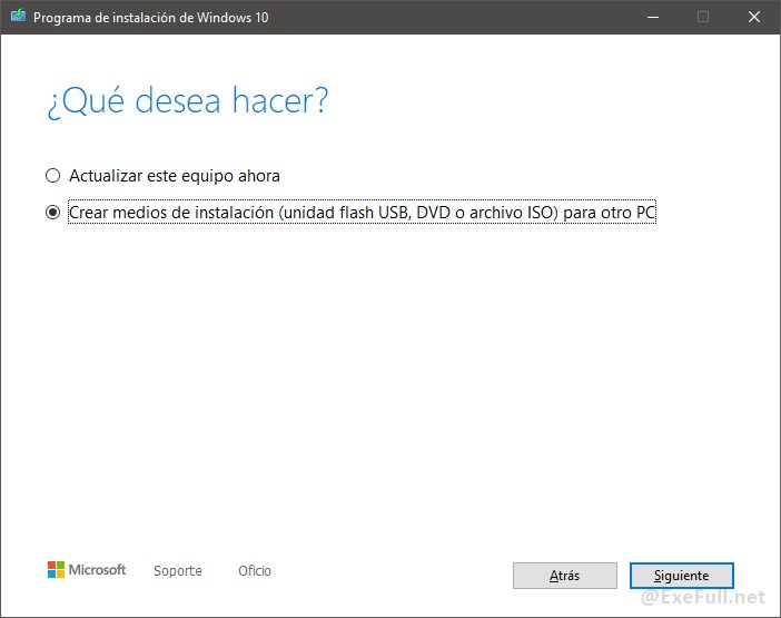 Descarga Windows 10 Paso 4